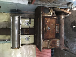 Treasure antique cookstove by D Moore Company