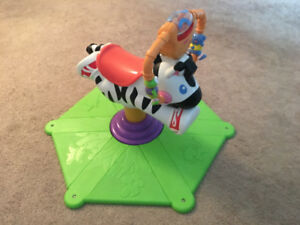 Fisher price zebra bounce and go