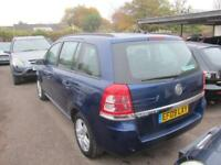 2009 Vauxhall Zafira MPV 1.6 105 Exclusiv Petrol blue Manual