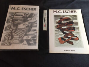 M.C. Esher Print book Like New and puzzle New in box