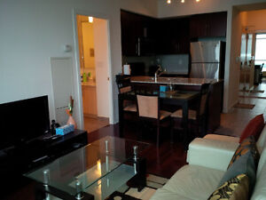 January: Furnished downtown 2 Bedroom + Den financial district