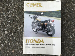 Honda CB350-CB550 .. 1971-1978 Repair manual