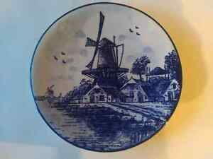 Delft blue made in holland plate