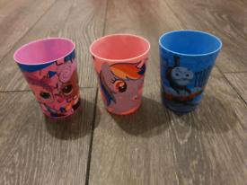 Children's plastic beakers