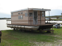 Houseboat and Trailer