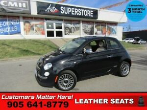 2013 Fiat 500 Lounge  ROOF RED-LEATHER HTD-SEAT BT ALLOYS