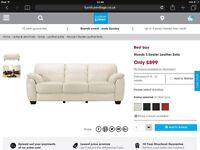 3 and 2 Seater Leather Sofa - Furniture Village RRP £1748