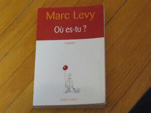 MARC LEVY /     OÙ ES-TU  / littérature auteur ROMAN