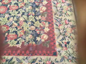 Elte Floral  needlepoint area rug. 66x 99 inches  Gorgeous