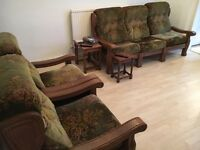 Sofa and 2 additional chairs