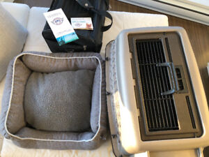 3 for 1 Pet Accessories  Crate., Sherpa Travel bag and Pet bed