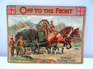 FATHER TUCK'S Oilettes OFF to the FRONT postcard painting book