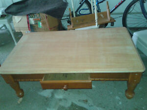 Coffee and end tables set   OAK wood  UNIQUE! Kitchener / Waterloo Kitchener Area image 1