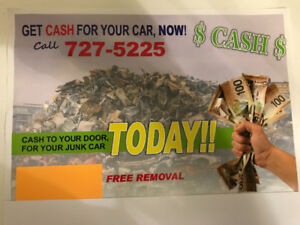 $$ CASH FOR JUNK CARS $$ FREE WRECK REMOVAL