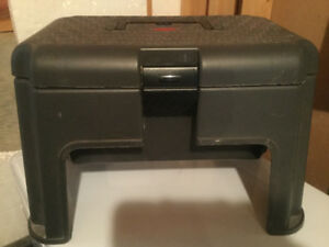 Rubbermaid.  Step stool storage tool chest