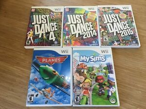 Jeux Wii - Just Dance, MySims, Planes