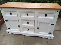 Sideboard - Shabby Chic white