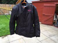 Ladies textile motorbike jacket. MEDIUM. Full armour. J&S not rst Alpinestars. Immaculate