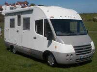 LAIKA A CLASS 610 ECOVIP MOTORHOME , 4 BERTH FIXED PULL DOWN BED WHICH EXTENDS