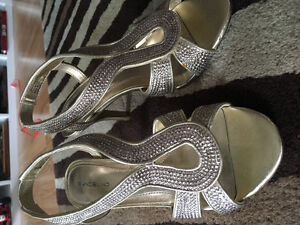 Brand New Gold Color Heels