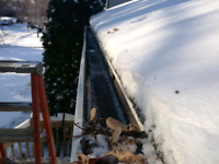 Winter Eavestrough Cleaning
