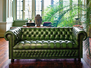 Wanted: Chesterfield tufted leather sofa 4 seater,