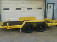 Trailer-Tilt Bed  with 2 - 5 Thousand pound Axles