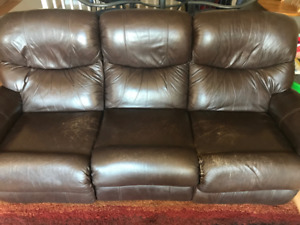 Lazboy Reclining Sofa and matching Reclining Rocking Chair