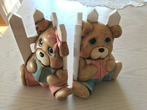 Girl's or Babies Teddy Bear Book Ends