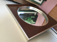 Framed mirror hand crafted numbered