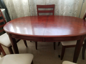 Dinning Table wood with 4 chairs Great condition