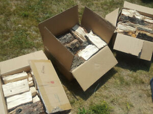 Firewood - mixed of dry wood 2 boxes for 15$, 1 for 10$