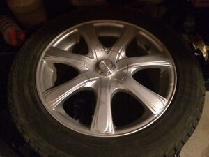 Winter tires and alloy rims 215-55r-17