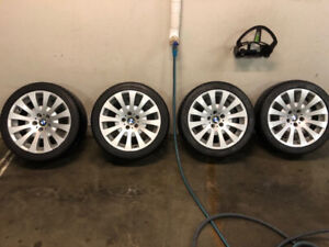 """BMW 18""""WHEELS WITH LIKE NEW TIRES"""