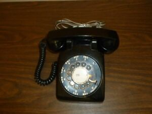 Vintage Working Rotary Home Telephone Black NT