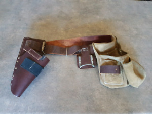 Tool belt with drill holster