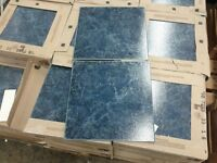 GORGEOUS Blue Marble Patterned Ceramic Tiles From Italy