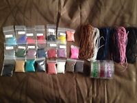 Large bundle beads and rope, crafting, jewellery making