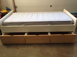 IKEA twin bed frame and mattress