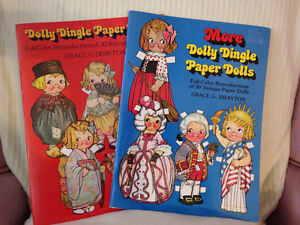 Dolly Dingle Paper Dolly circa 1978 (Lot of 2)
