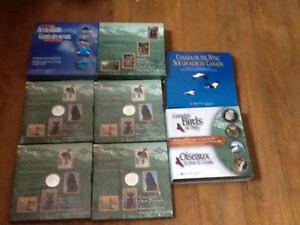 5 COMPLETE DISCOVERING NATURE COIN SETS STERLING SILVER