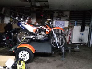 Trailer to transport motorcycle
