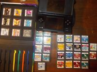 nintendo ds with 36 games