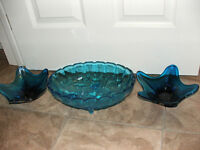 3 glass dishes