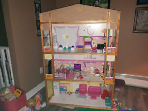 3 story doll house for sale $75.00 .