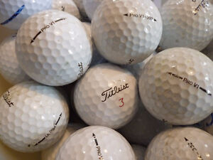 Lot de 50 balles Titlest Pro V-1 ou V1X (bonne condition)