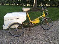 Electric old three wheeled bike
