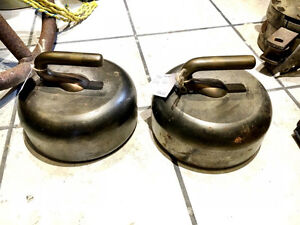 Antique Brass and Iron Curling Rocks
