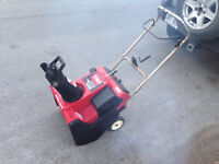 Toro CCR2000E snowblower with 4.5HP engine and electric start
