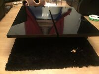 Black Gloss Coffee Table with Storage